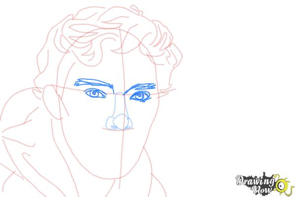 How to Draw Benedict Cumberbatch - Step 8