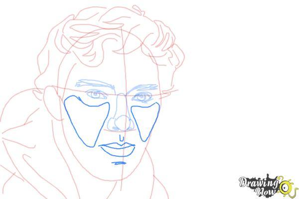 How to Draw Benedict Cumberbatch - Step 9