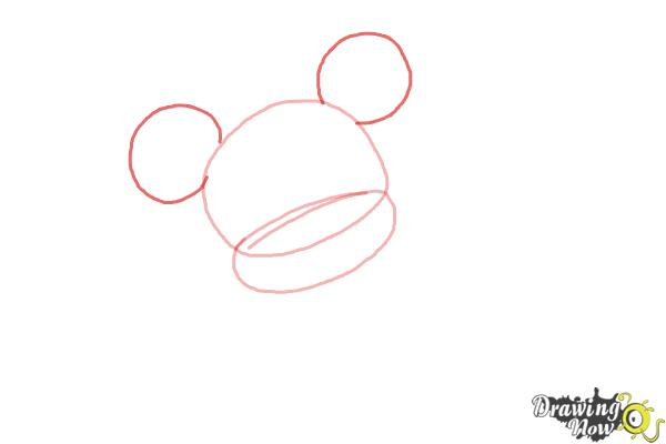 How to Draw Chibi Minnie Mouse - Step 2