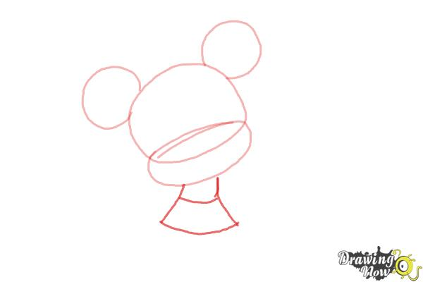 How to Draw Chibi Minnie Mouse - Step 3