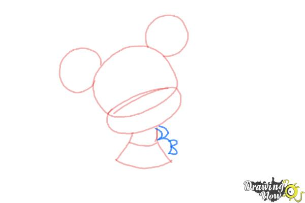 How to Draw Chibi Minnie Mouse - Step 4