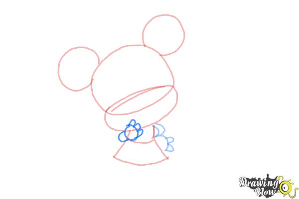 How to Draw Chibi Minnie Mouse - Step 5