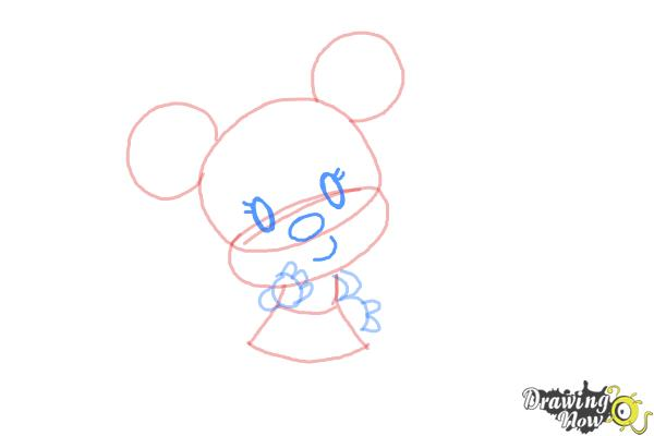 How to Draw Chibi Minnie Mouse - Step 6