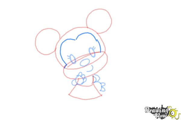How to Draw Chibi Minnie Mouse - Step 7