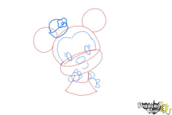 How to Draw Chibi Minnie Mouse - Step 8
