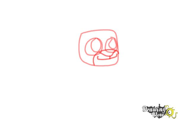 How to Draw Chibi Simba from The Lion King - Step 3