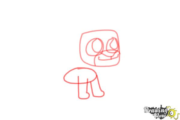 How to Draw Chibi Simba from The Lion King - Step 4