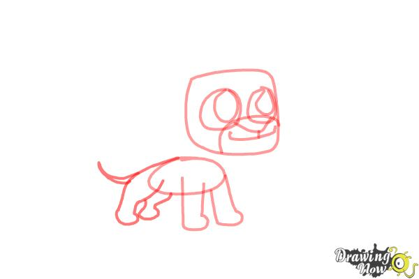 How to Draw Chibi Simba from The Lion King - Step 5