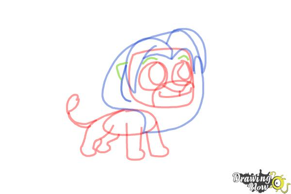 How to Draw Chibi Simba from The Lion King - Step 8