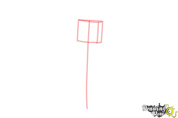 How to Draw Stampylonghead from Minecraft - Step 1