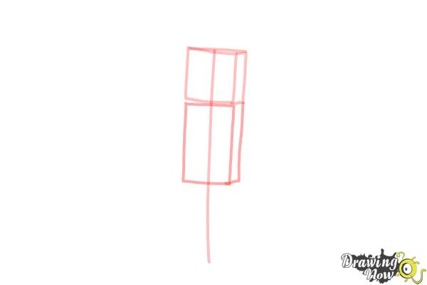 How to Draw Stampylonghead from Minecraft - Step 2
