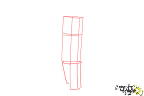 How to Draw Stampylonghead from Minecraft - Step 3