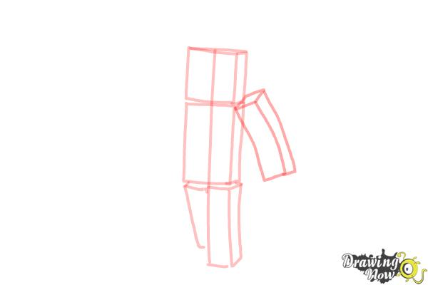 How to Draw Stampylonghead from Minecraft - Step 4