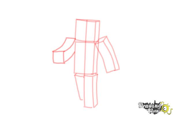How to Draw Stampylonghead from Minecraft - Step 5