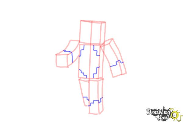 How to Draw Stampylonghead from Minecraft - Step 6