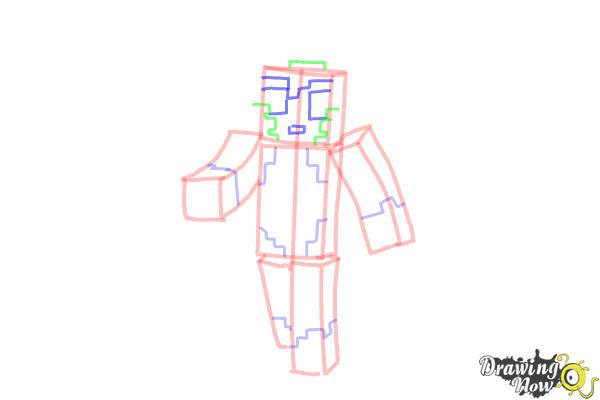 How to Draw Stampylonghead from Minecraft - Step 7