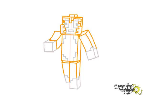 How to Draw Stampylonghead from Minecraft | DrawingNow