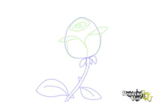 How to Draw a Rose Step by Step For Kids - Step 4