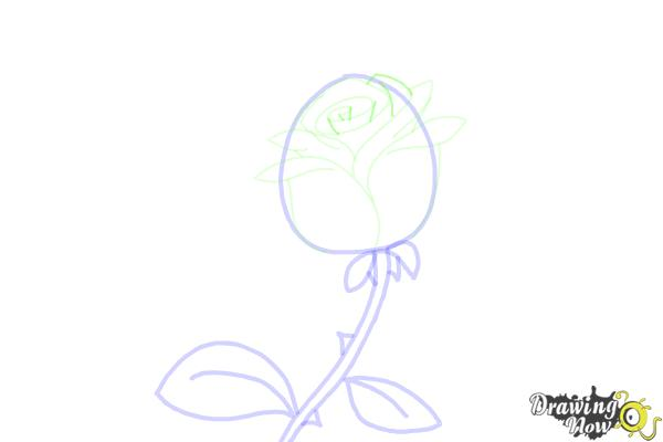 How to Draw a Rose Step by Step For Kids - Step 6