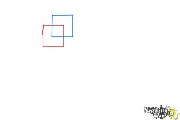 How to Draw Three Dimensional Shapes - Step 1