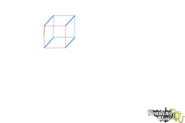 How to Draw Three Dimensional Shapes - Step 2