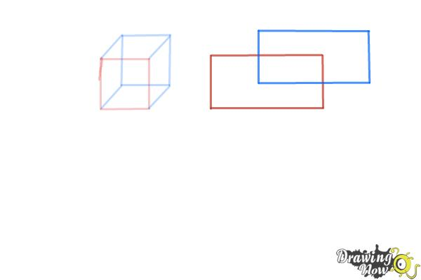 How to Draw Three Dimensional Shapes - Step 3