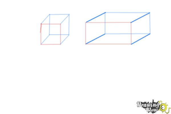 How to Draw Three Dimensional Shapes - Step 4