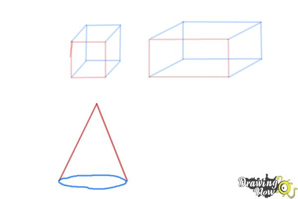 How to Draw Three Dimensional Shapes - Step 5
