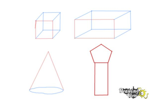 How to Draw Three Dimensional Shapes - Step 6