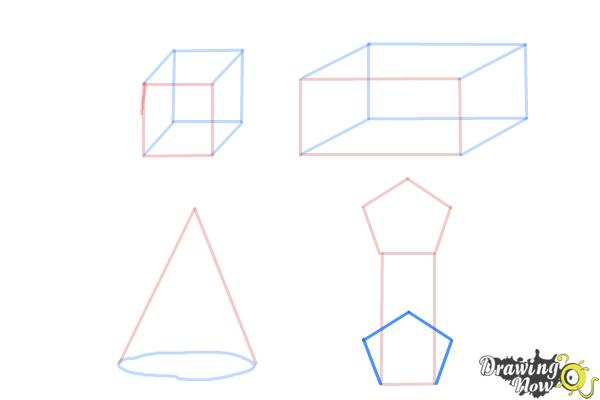 How to Draw Three Dimensional Shapes - Step 7