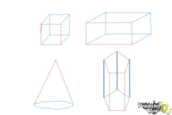 How to Draw Three Dimensional Shapes - Step 8
