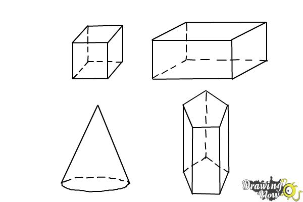 How to Draw Three Dimensional Shapes - Step 9