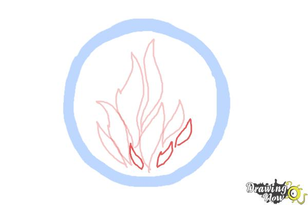 How to Draw Dauntless, The Brave Logo from Divergent - Step 4
