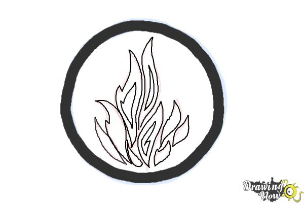 How to Draw Dauntless, The Brave Logo from Divergent - Step 5