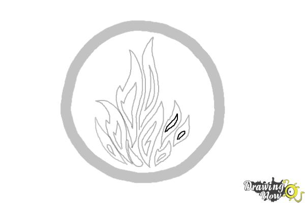 How to Draw Dauntless, The Brave Logo from Divergent - Step 7