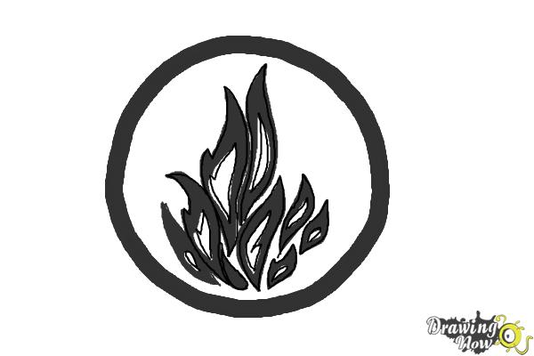 How to Draw Dauntless, The Brave Logo from Divergent - Step 8