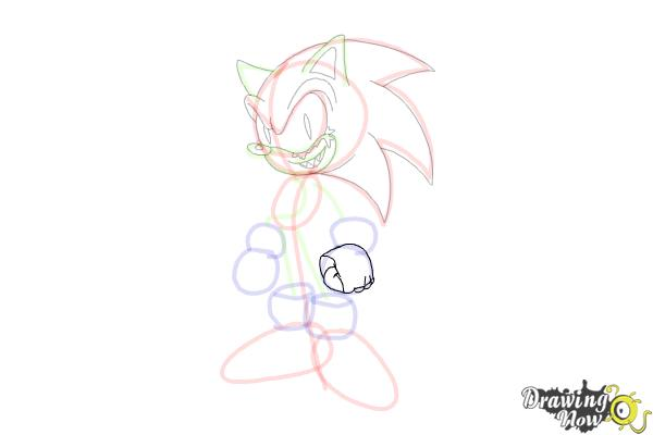 How to Draw Sonic.Exe - Step 12