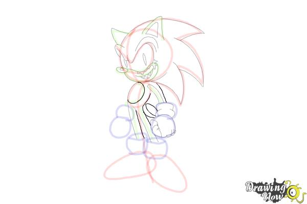 How to Draw Sonic.Exe - Step 14