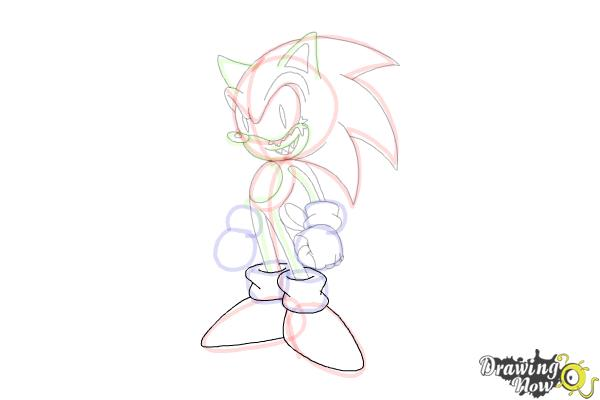 How to Draw Sonic.Exe - Step 15