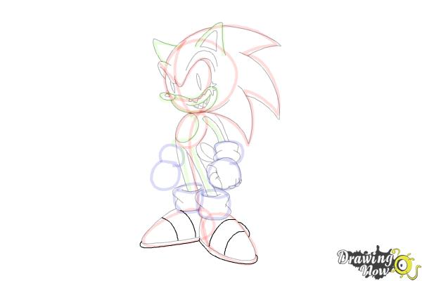 How to Draw Sonic.Exe - Step 16