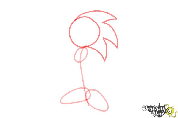 How to Draw Sonic.Exe - Step 3