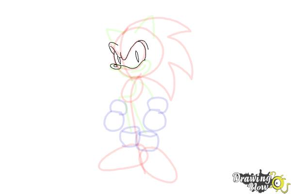 How to Draw Sonic.Exe - Step 9