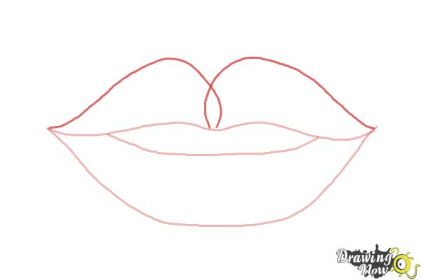 How to Draw Female Lips - Step 4