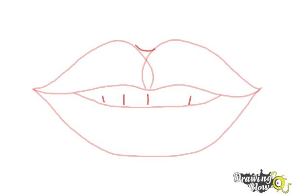 how to draw smiling lips no teeth