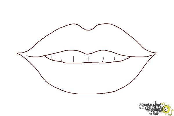 How to Draw Female Lips - Step 6