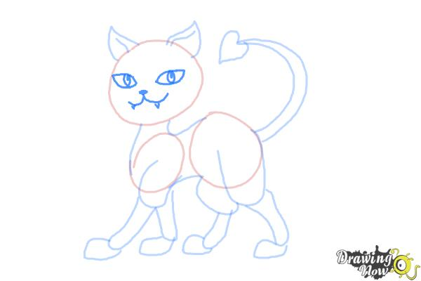 How to Draw Clawdeen Wolf Pet, Crescent - Step 7