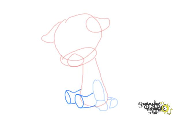 How to Draw a Baby Giraffe - Step 6