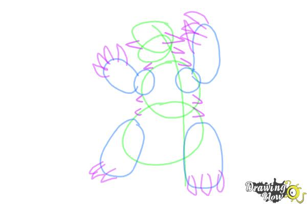 How to Draw Groudon from Pokemon - Step 5
