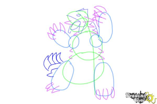 How to Draw Groudon from Pokemon - Step 7