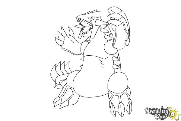 How to Draw Groudon from Pokemon - Step 8